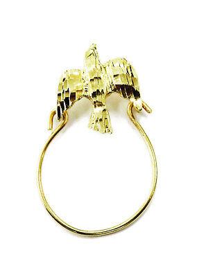 10K Yellow Gold Bird Charm Holder Necklace Pendant ~ 0.9g