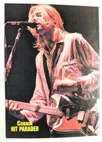 NIRVANA / KURT COBAIN LIVE / MAGAZINE FULL PAGE PINUP POSTER CLIPPING (1)