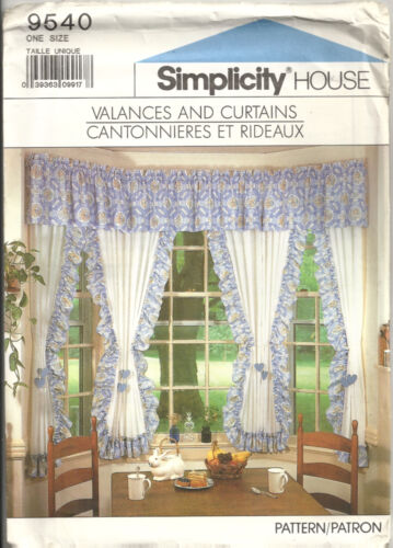 SIMPLICITY HOUSE 9540 VALANCES & CURTAINS SEWING PATTERN VINTAGE