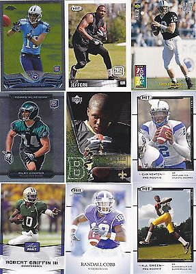 Huge Rookie card RC lot of 22 diff Riley Cooper Cam Newton Justin Hunter Chrome