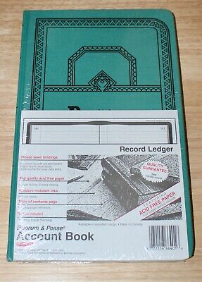 New Boorum Pease Account Book Ledger Journal Rule Blue 150 Pages 12 18 X 7 58