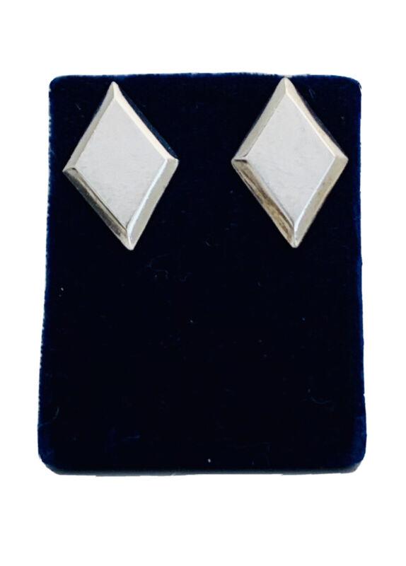 Vintage Sterling Silver Taxco Minimalist Earrings