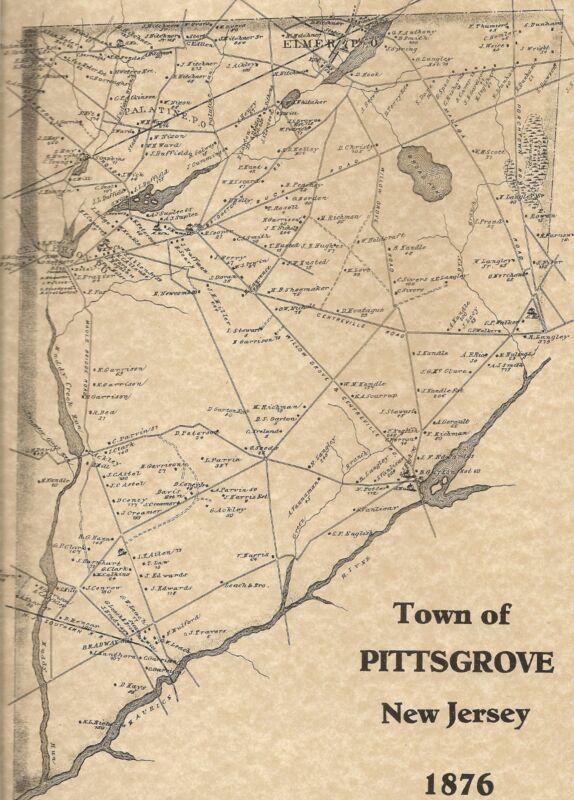 Elmer Olivet Palatine Pittsgrove  NJ 1876 Maps with Homeowners Names Shown