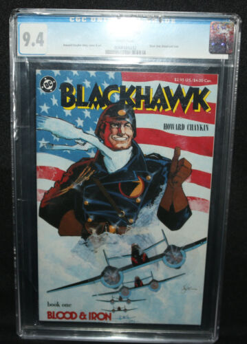 Blackhawk #1 - Book One: Blood and Iron - CGC Grade 9.4 - 1987