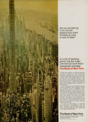 1967 Bank of New York Empire State Building Investment Original Vintage Print Ad