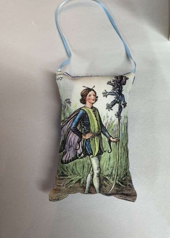 """Sml Hanging Pillow Of The 1944 Mary Barker Print THE BLUEBELL FAIRY 4""""x3"""""""