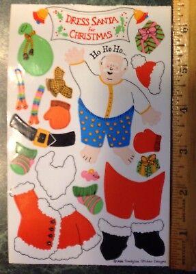 Vintage 80s DRESS SANTA FOR CHRISTMAS SandyLion Maxi Activity Sticker Sheet 1984 - Christmas Activity Sheets