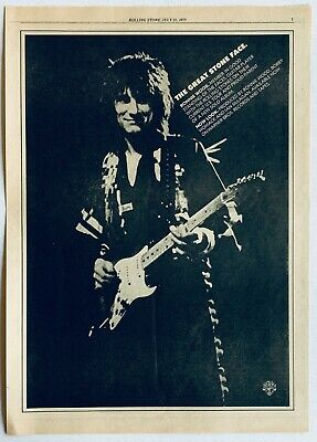RON WOOD vintage 1975 POSTER ADVERT NOW LOOK Rolling Stones Faces