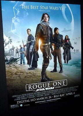 RARE Movie DVD Poster 22X28 SS Original ROGUE ONE: