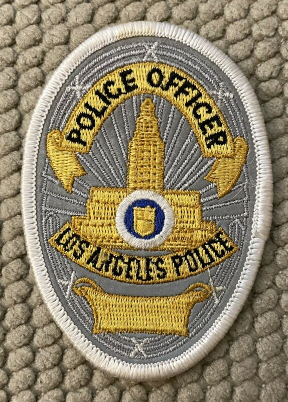 "LA PD Police Patch 3 3/4"" Prototype Reflective Only One Known To Exist"