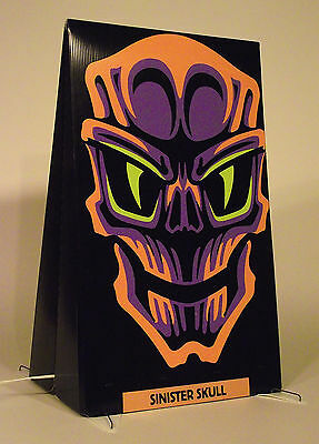 "Halloween Lighted Outdoor Display - Sinister Skull -17""W x 27""H - 2 Sided (Outdoor Halloween Displays)"