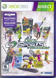 NEW SEALED DECA SPORTS FREEDOM XBOX 360 KINECT 10 VIDEO GAMES TENNIS GREAT GIFT