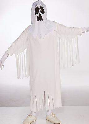 Kids Unisex Ghost Costume White Ghoul Childrens Child Girls Boys L Large