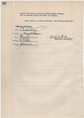 Typewritten Document Signed by Thomas Edison in 1927 w/COA