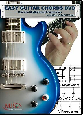 EASY GUITAR CHORDS Common Rhythms Progressions Songs in All Keys Beginner to Adv Beginner Guitar Chord Progressions