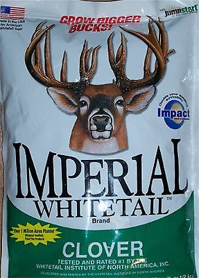 4 lb Whitetail Institute IMPERIAL CLOVER Bulk Seeds 1/2 ACRE Deer Food Plot