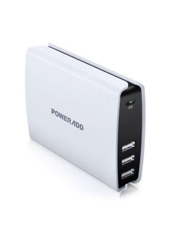 USB C Wall charger, Poweradd 4-Port USB Desktop Charging Ada