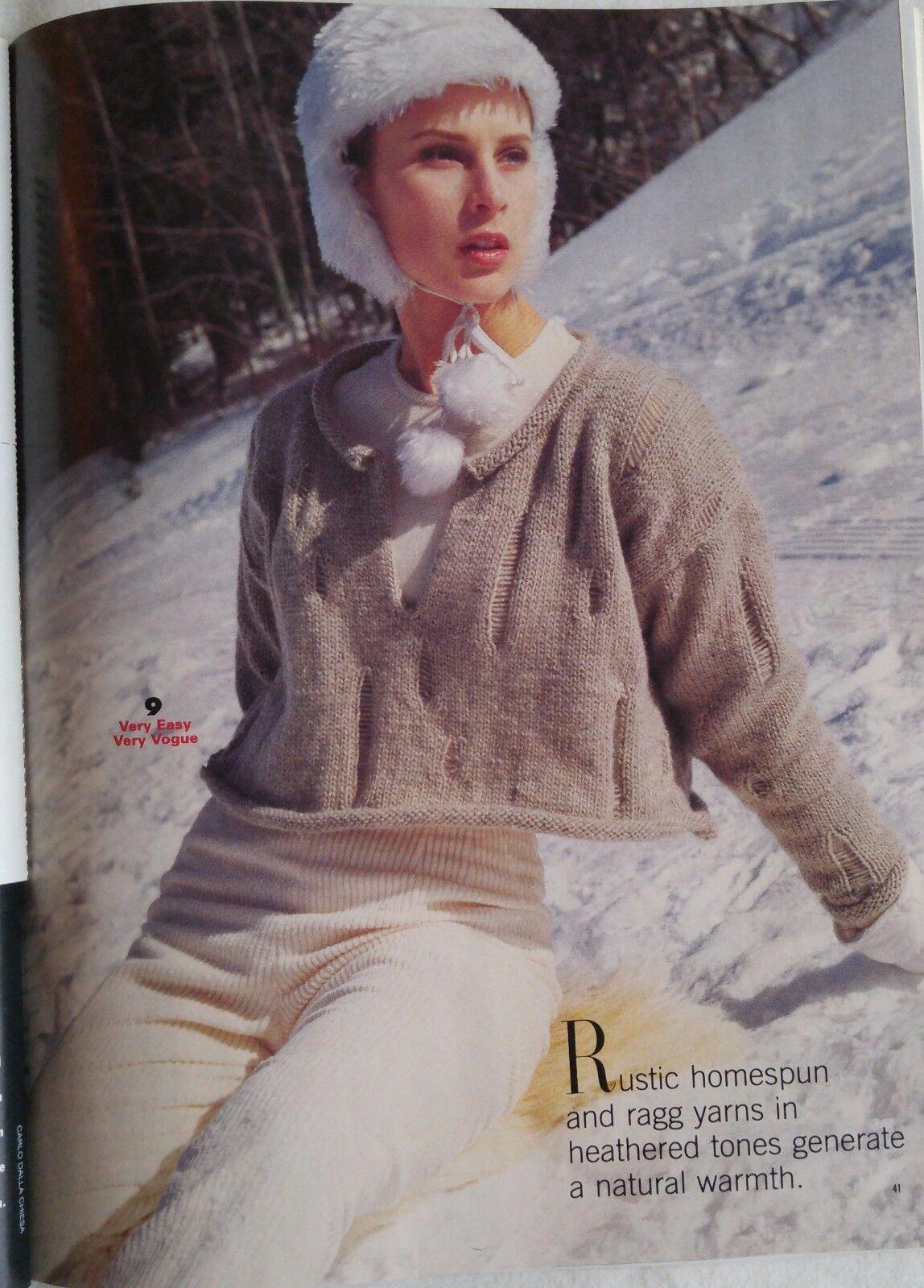 Vogue Knitting Pattern Magazine WINTER 1994 Evening Red Rugged ...