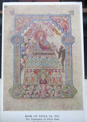 Ireland Dublin Book of Kells Temptation of Christ St Luke's Gospel - unposted