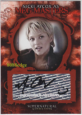 "2008 SUPERNATURAL CONNECTIONS AUTO: NICKI AYCOX #A3 AUTOGRAPH ""COLD CASE/CSI"""