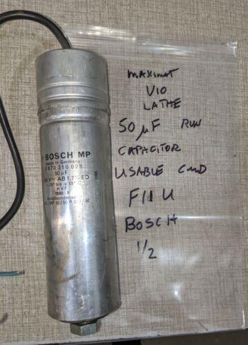 Emco Maximat V-10 Lathe 50 MicroFarad Run Capacitor F11U