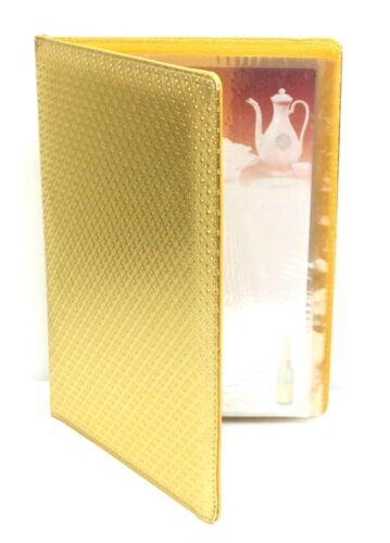 "Menu Cover for Restaurants 8.5"" x 11"" Gold Menu Folder Premium Cafe Restaurant"