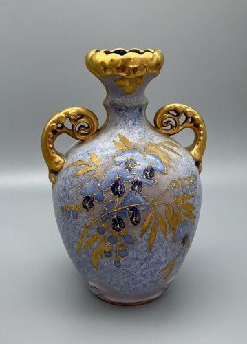 """RStK Teplitz Art Nouveau 8"""" Pale Blue Amphora"""