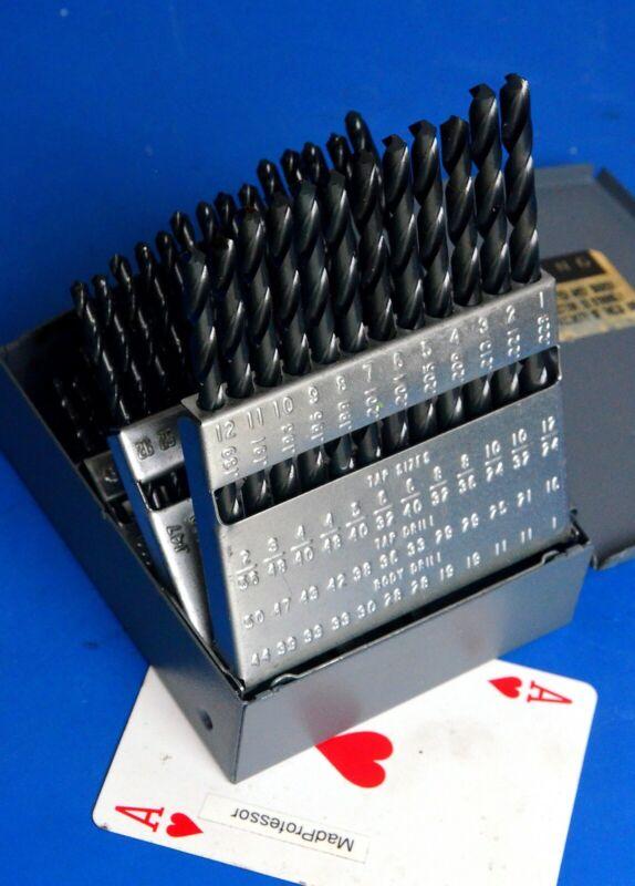 Chicago Latrobe C-L Wire Gauge Number High Speed Twist Drill bit Set 1-60 NEW