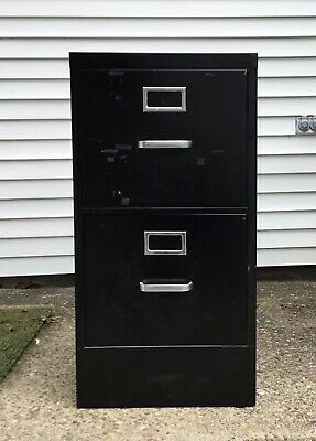 2-drawer Black Metal File Cabinet Rack Pendaflex Folders Wny Pu