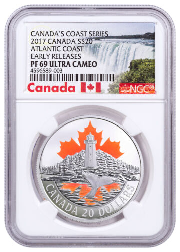 2017 Canada Atlantic Coast 1 oz Colorized Silver $20 NGC PF69 UC ER SKU49022