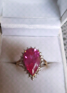 9ct Gold Ruby n Diamond ring . Pearsall Wanneroo Area Preview