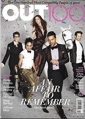 Out Gay Magazine Ricky Martin Julianne Moore Johnny Weir Rachel Maddow