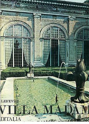 LEFEVRE R. VILLA MADAMA EDITALIA 1973 ROMA ARCHITETTURA LAZIO