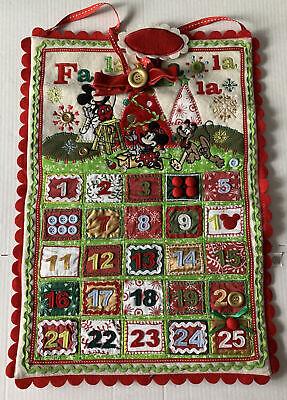 Disney RETIRED Fa La La Christmas Advent Calendar Mickey, Minnie, & Pluto