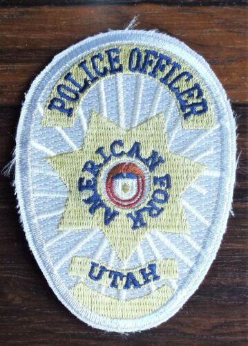 GEMSCO NOS Vintage Collectible Patch POLICE AMERICAN FORK UT Original 25+