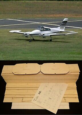 120 in. wing span CESSNA 310G R/c Plane short kit/semi kit and plans, used for sale  Shipping to India