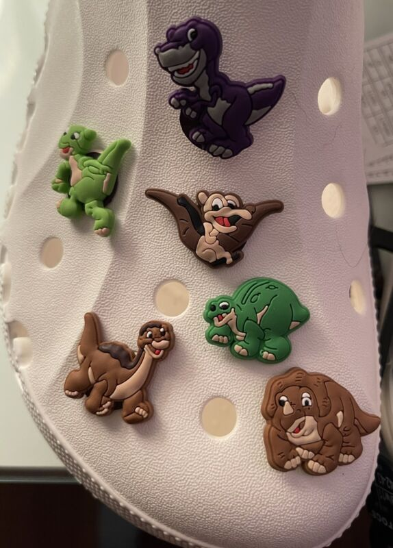 LAND BEFORE TIME Set Of 6 SHOE Charms For Crocs Croc
