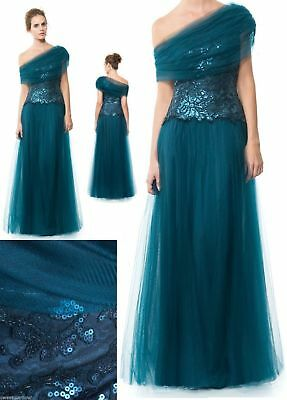 Tadashi Shoji Runway Lace Sequin Tulle Gown Dress DREAMY MERMAID SO GLAM Out US2