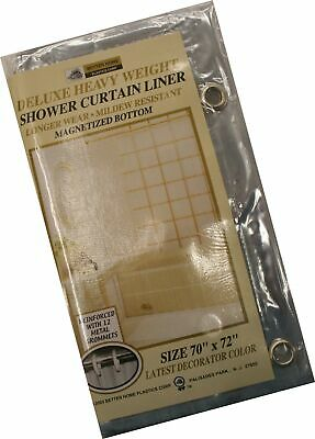 Better Homes New Vinyl Shower Curtain Liner with Magnets, (Best Clear Shower Curtain)