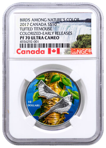 2017 Canada Birds Tufted Titmouse 1/2 oz Silver $10 NGC PF70 UC ER SKU47636