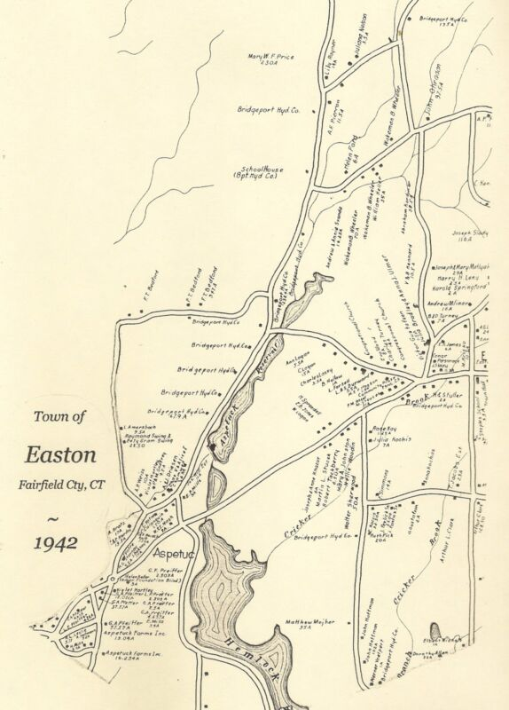 Easton Aspetuck Plattsville CT 1942 Maps with Homeowners Names Shown   Genealogy