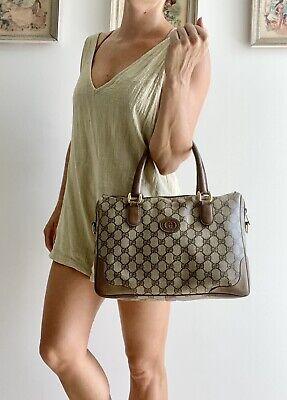 Authentic Vintage GUCCI Brown Monogram GG purse BAG