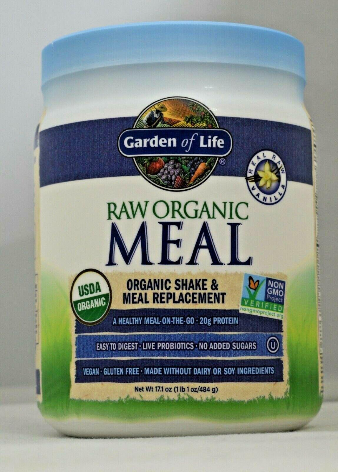 Raw Organic Meal Vanilla Garden of Life 1.23 lbs  Powder