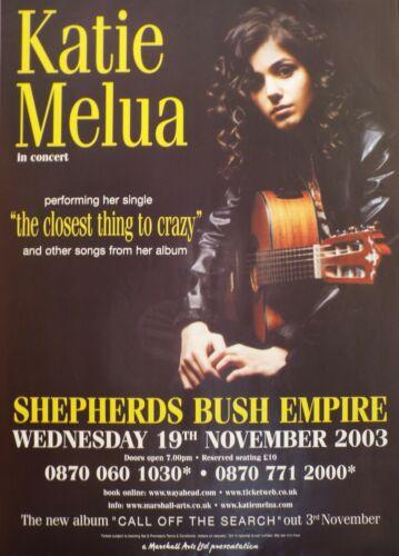 Katie Melua The Closest Thing To Crazy UK Original Promo Blues Poster RARE