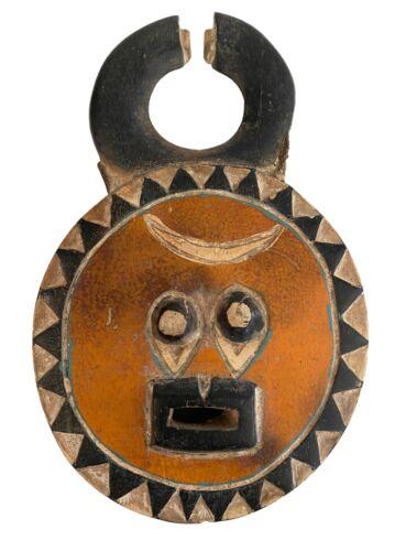 "African Baule Goli Passport /Mask I Coast 11"" H by 7"" W"