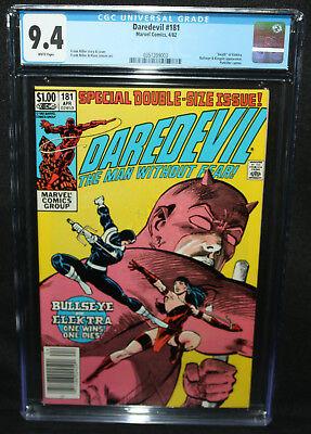 Daredevil #181 - Death of Elektra - Frank Miller - CGC Grade 9.4 - 1982