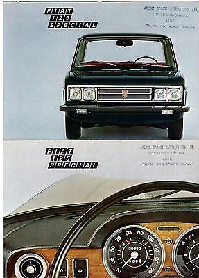Fiat 125 Special 1971-72 UK Market Sales Brochure Porfolio In Plastic Wallet