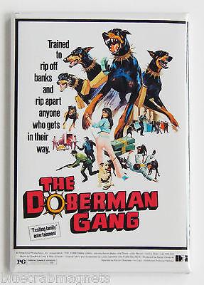 The Doberman Gang FRIDGE MAGNET (2 x 3 inches) movie poster dog