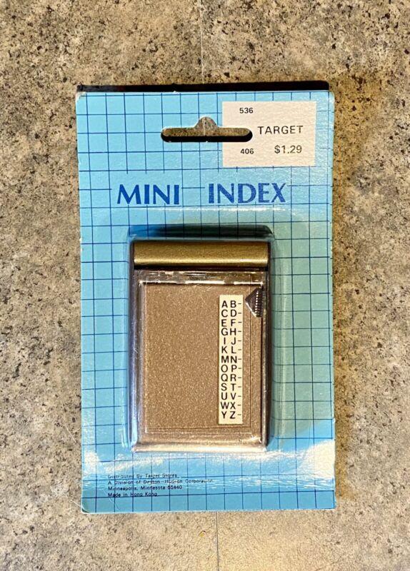 Vintage Target Mini Index Book - Pocket A-Z Slider Flip Open Telephone Address
