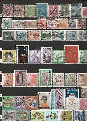 Briefmarken aus fernen Ländern  51 Stck ( Österreich  01. )